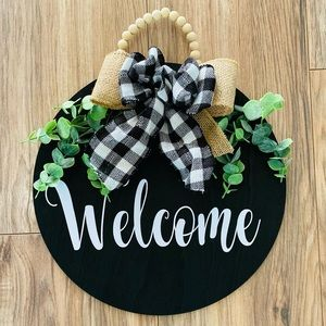 🎀 WELCOME WOOD SIGN DECORATIVE 🎀